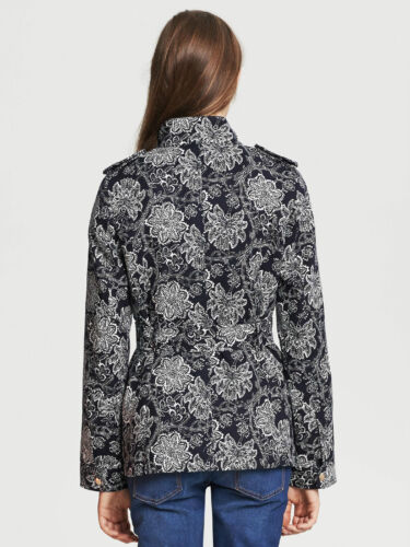 Jacket print Nwt Color white Field Black Women's Republic Floral Banana Belted I0n01wZq
