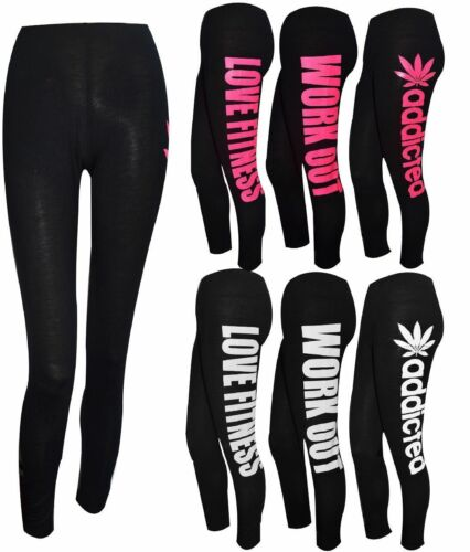 LADIES NEW PRINTED LEGGING GYM TRAINING PANTS SPORTS FITNESS TROUSER ALL SIZES