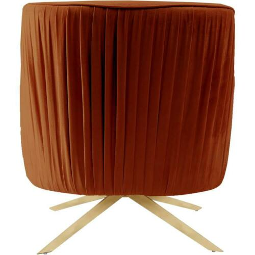 Meridian Furniture Paloma Velvet Accent Chair in Cognac and Gold