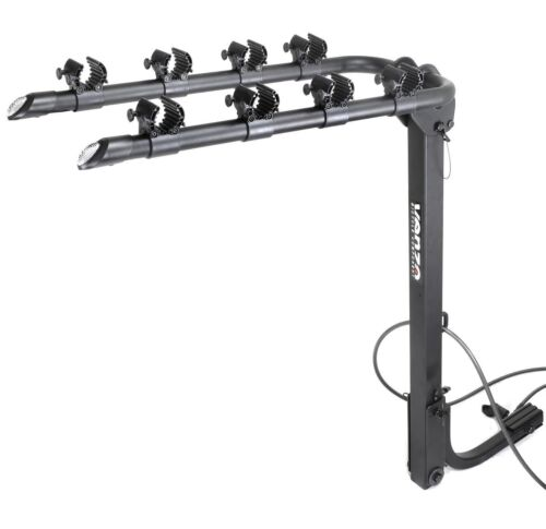 """VENZO 4 Bicycle Bike Rack 1.25/"""" and 2/"""" Hitch Mount Car Carrier"""