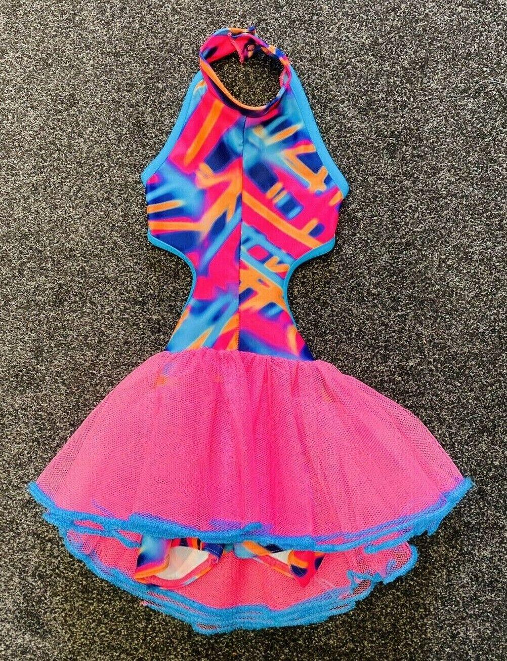 Multibeam MICHA DANCE UNITARD with Pink Tutu Skirt - Age 2 (Size 00) ~ Very Cute