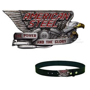 * Águila adorno en la cintura Biker Custom bike Vintage Motor Buckle * 450