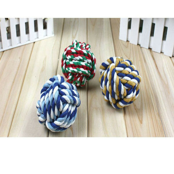 Hot Pet Nuts For Knot Large Rope Strengthen Teeth Ball Dog CAT Toy ño nuevo EO
