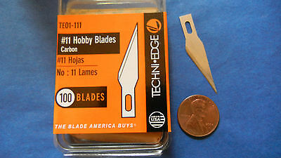 200 #11 BLADES Techni-edge craft hobby carving X-acto Fit No11 TE01-111 USA MADE