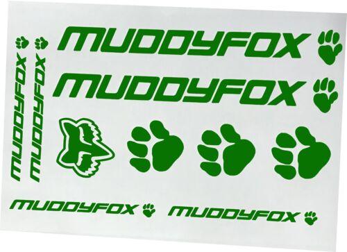 Bike Stickers Frame Fork Vinyl Decals Mountain Bike Muddy Fox x 10