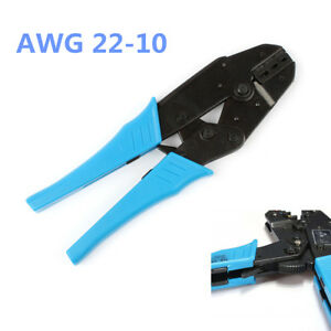 Insulated Terminals Ratchet Crimping Plier AWG 22-10 0.5-6.0mm HS-30J