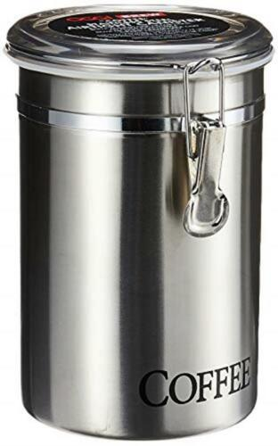 """Oggi 62-Ounce Brushed Stainless Steel """"Coffee"""" Airtight Cani"""
