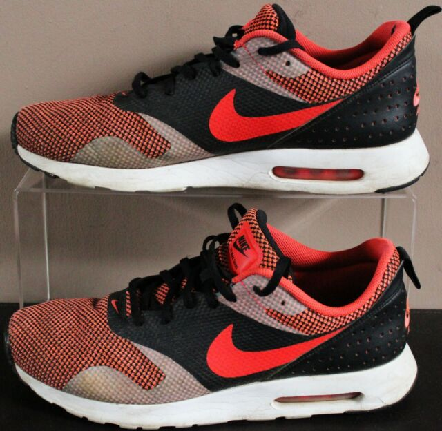 Nike Air Max Tavas 2016 Lace Trainers - UK Size 11 - Red & Grey Woven - Mens