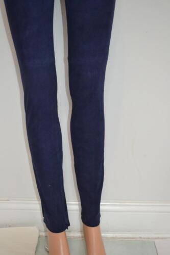 on con navy blu pull pantaloni Leggings Tahari Taglia pelle cerniera in Nwt scamosciata 898 Elie 0 qwx7PYRX