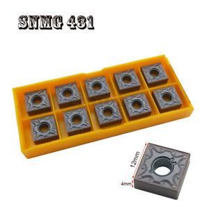 10pcs SNMG120404-MA VP15TF Carbide Milling Inserts Lathe Cutting Tools Metal fo