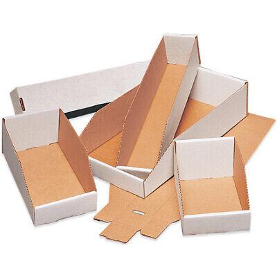 200#//ECT-32-B Corrugated White Industrial Jumbo Open Top Bin Boxes BUNDLE OF 25