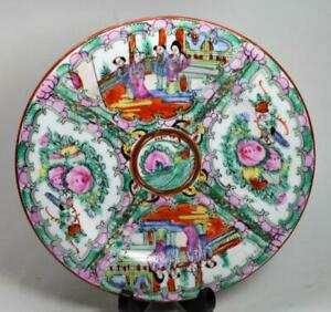 """8/"""" Chinese BLUE AND WHITE PORCELAIN Hand PAINTED PLATE  QIANLONG MARK"""