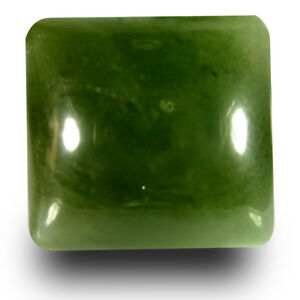 18-08CT-Amortiguador-Cabujon-Corte-16-X-16mm-Verde-Oliva-Un-Heated-Serpentin