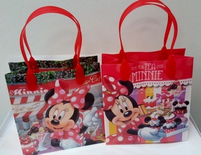 12PCS Disney Minnie Mouse Authentic Goodie Party Favor Gift Birthday Loot Bags