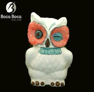 Vintage-ANTHROPOLOGIE-Nola-Winking-Owl-Cookie-Jar