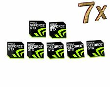 NVIDIA GeForce GTX sticker 7x trozo PCs pegatinas portátil Label logotipo New Edition