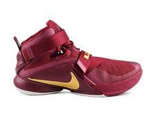 Nike MEN'S LEBRON SOLDIER IX PREMIUM Deep Garnet/Metallic Gold SIZE 13 BRAND NEW