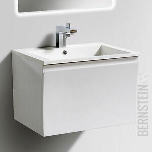 Bernstein Badmöbel Set 60cm Waschbecken Unterschrank Weiß Oder