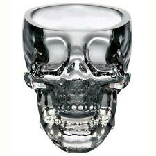 New Crystal Skull Head Vodka Whiskey Shot Glass Cup Drinking Ware Home Bar   PK