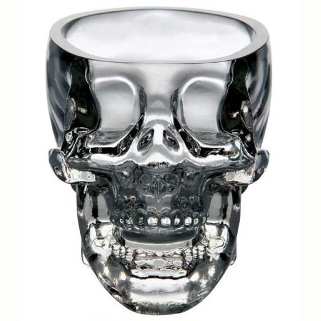 New Crystal Skull Head Vodka Whiskey Shot Glass Cup Drinking Ware Home Bar BG