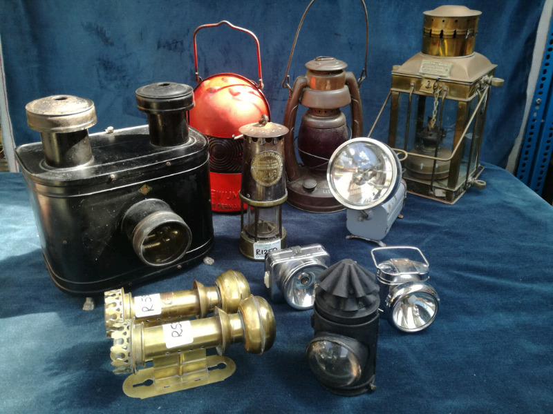 Various  types of lamps on offer