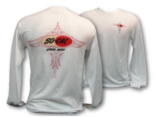 Pinstripe Logo T-Shirt White Long Sleeve