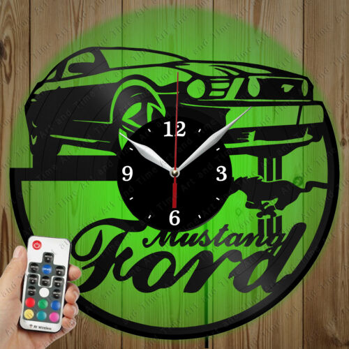 large selection Details about LED Vinyl Clock Ford Mustang LED ...