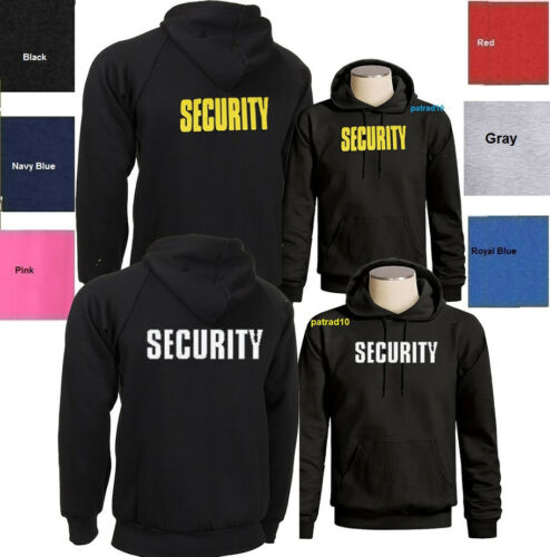 Two Sides SIZES S-3XL SECURITY Sweatshirt Hoodie Bouncer Crew Staff