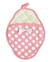 Scalloped Potholder Pink & White Polka Dot By Jessie Steele