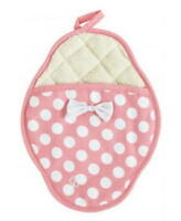 Scalloped Potholder Pink & White Polka Dot By Jessie Steele