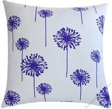 Decorative Silver Sequins Dandelion Floral Throw Pillow COVER 18 White Silver 3910568