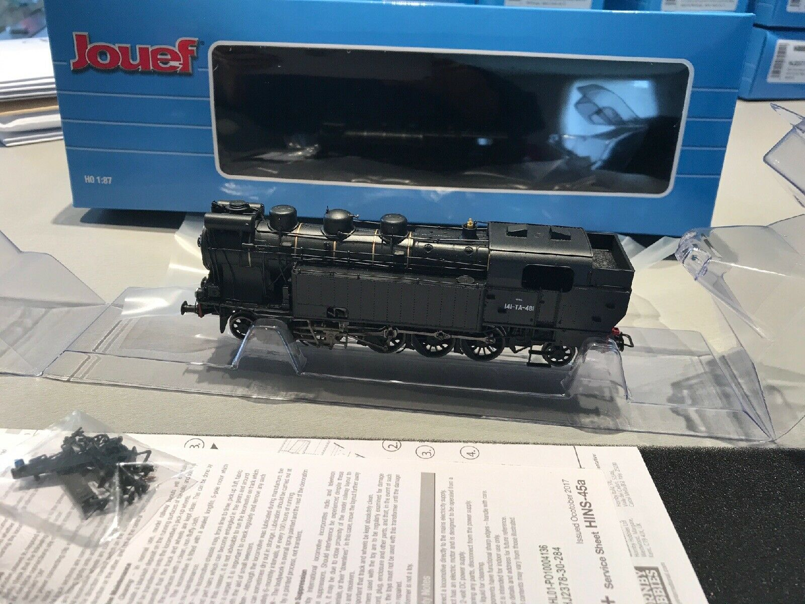 JOUEF HJ2378 LOCOMOTIVE VAPEUR SNCF 141 TA 481 LIVRÉE neroE ACFI NEUVE EN BOÎTE