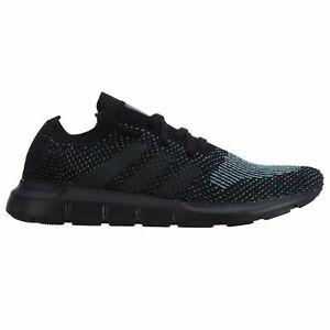 612f0af0f Adidas Swift Run PK Mens CG4127 Black Grey Primeknit Running Shoes ...
