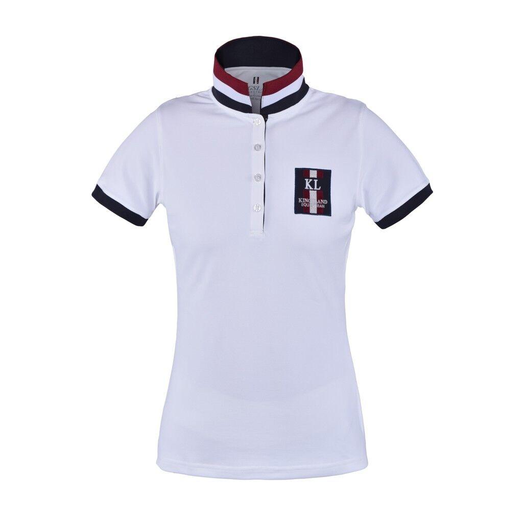 Kingsland Ursa funzionali Polo da Pikee per donna, Bianco