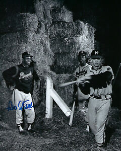 1957-BRAVES-Felix-Mantilla-signed-photo-8x10-AUTO-Autographed-w-Hank-Aaron-Milw