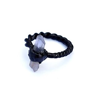 Natural-Pencil-Crystal-Gemstone-Stackable-Brass-Fashion-Design-Anniversary-Ring