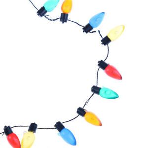 Details About 1 12 Dollhouse Miniature A String Of Multi Coloured Plastic Christmas Lights Te