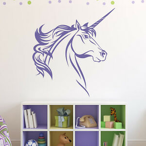 Image Is Loading Unicorn Wall Sticker Girls Bedroom Wall Decal Fantasy