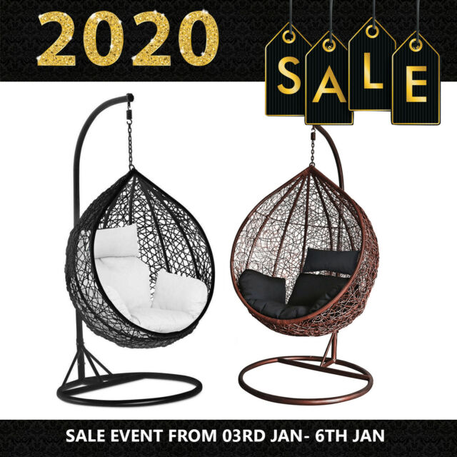 Wicker Effect Weave Hanging Ball Chair
