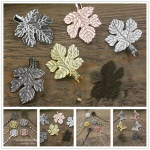 5x-Pack-Vintage-Simple-Head-Jewelry-Hairpin-Leaf-Clip-For-Hair-Tiara-Accessories