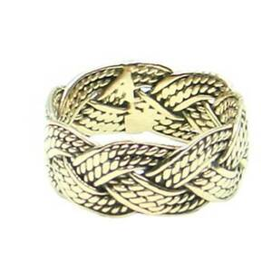 Viking Braid Ring Bronze Symbol Jewelry - New