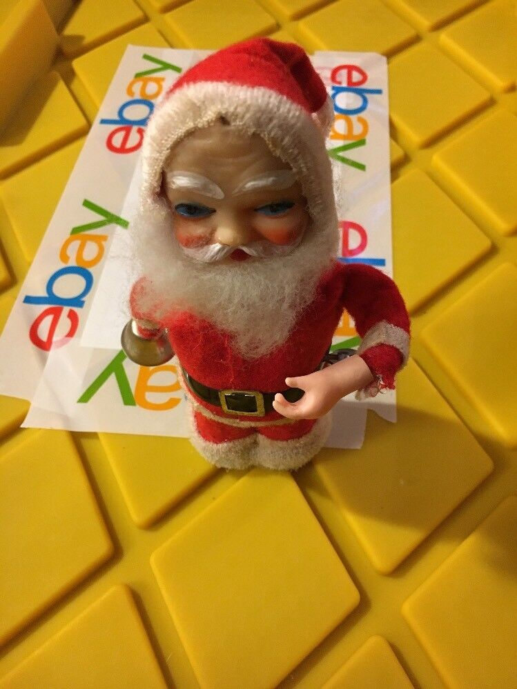Wind Up, Santa, with bell  Toy, Vintage christmas