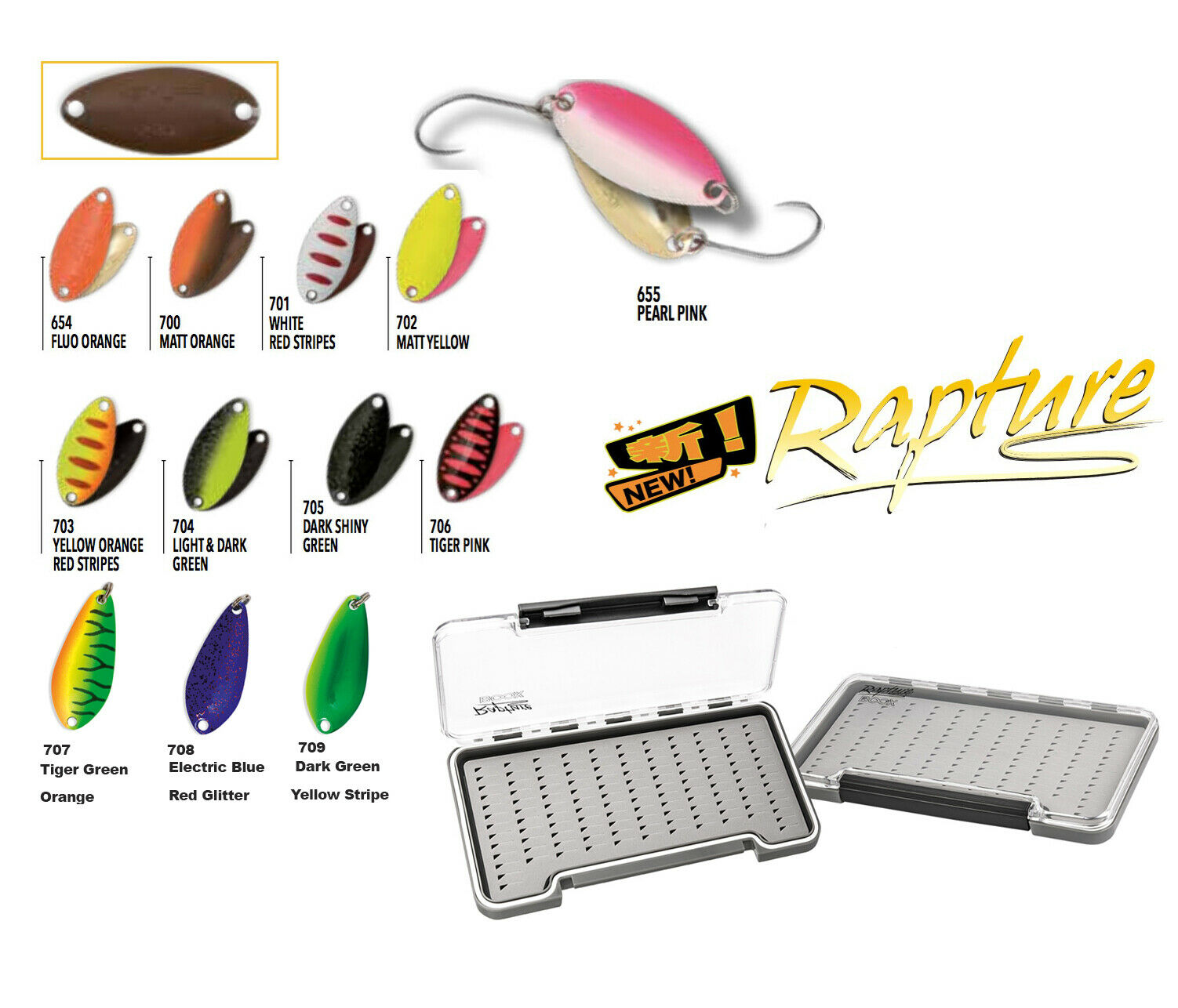 KP3717 Spoon japan pesca Trout Area Isei Sue 2,3 gr + Scatolina Rapture     RNR