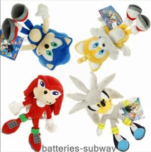 silver sonic the hedgehog plush toy tails knuckles the echidna