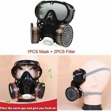 Full Face Respirator Gas Mask Ampgoggles Filter Comprehensive Cover For Reusable