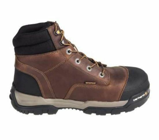 Carhartt Men's Brown Leather 6  WP Composite Toe EH Work Boot CME6355