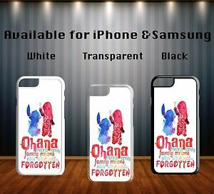 Disney-Lilo-And-Stitch-Ohana-Family-Quote-Hard-Phone-Case-Cover-X105