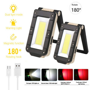 USB-Rechargeable-XPE-COB-LED-Flashlight-Torch-Work-Light-Magnetic-Handheld-Lamp