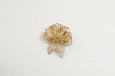 Tepazio Portugal Vermeil Filigree Bow Pin Complete Range Of Articles Jewelry & Watches Fashion Jewelry