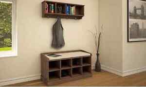 Kempton Hallway Shoe Storage, Wall Rack With Coat Hooks Or Both ... Coat Hooks With Storage